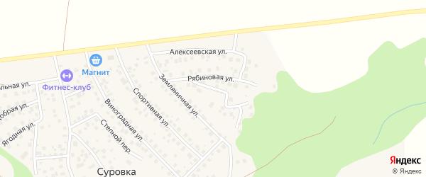 Чарская улица на карте деревни Суровки с номерами домов
