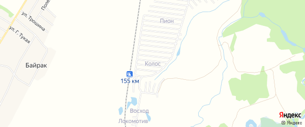 СНТ Колос на карте Стерлитамакского района с номерами домов