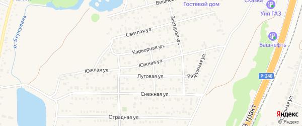 Южная улица на карте села Зубово с номерами домов