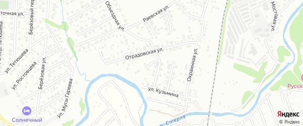 В.Ф.Кузьмина 1-й переулок на карте Стерлитамака с номерами домов