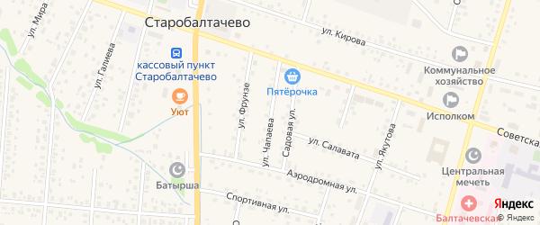 Улица Чапаева на карте села Старобалтачево с номерами домов