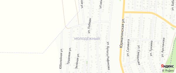 Улица Победы на карте Мелеуза с номерами домов