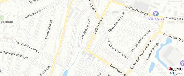 Рабочая улица на карте Уфы с номерами домов