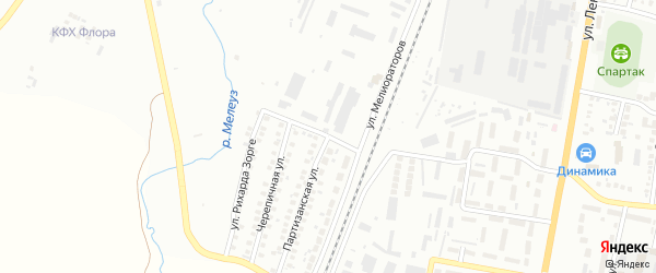 Партизанская улица на карте Мелеуза с номерами домов