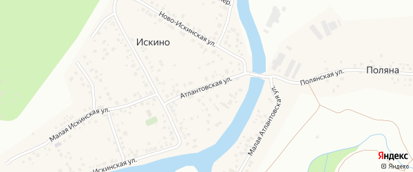 Атлантовская улица на карте деревни Искино с номерами домов