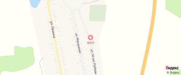Улица 50 лет Победы на карте села Толбазы с номерами домов