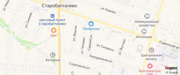 Садовая улица на карте села Старобалтачево с номерами домов