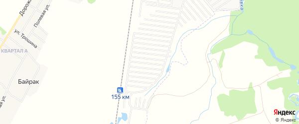 СНТ Ясень на карте Стерлитамакского района с номерами домов