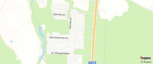 СНТ Березка на карте Кармаскалинского района с номерами домов