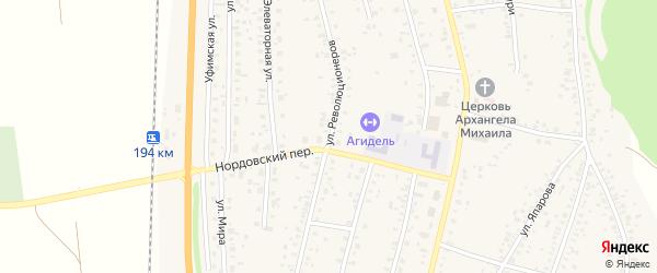 Улица Революционеров на карте села Зиргана с номерами домов