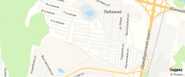 СНТ Дружба на карте Уфимского района с номерами домов