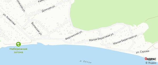 Ферганская улица на карте Уфы с номерами домов