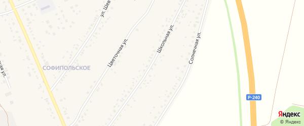 Школьная улица на карте села Толбазы с номерами домов