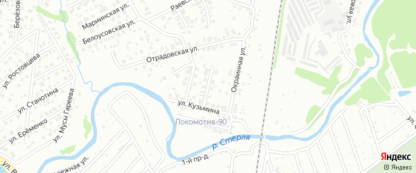 В.Ф.Кузьмина 3-й переулок на карте Стерлитамака с номерами домов