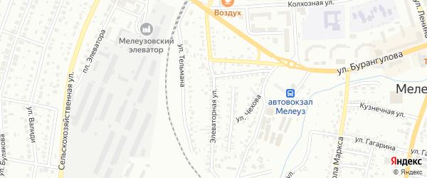 Элеваторная улица на карте Мелеуза с номерами домов