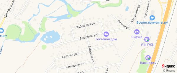 Вишневая улица на карте села Зубово с номерами домов