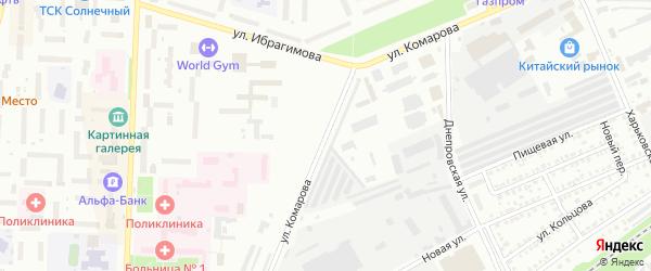 Улица Комарова на карте Стерлитамака с номерами домов
