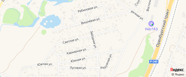 Звездная улица на карте села Зубово с номерами домов