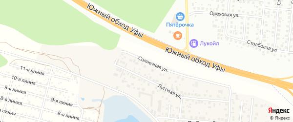 Солнечная улица на карте села Лебяжьего с номерами домов