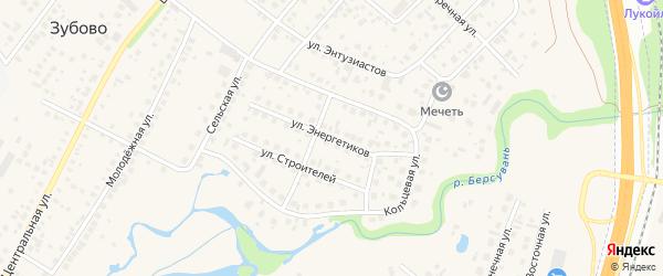 Улица Энергетиков на карте села Зубово с номерами домов