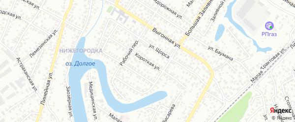 Короткая улица на карте Уфы с номерами домов