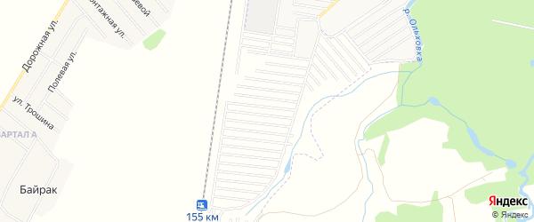 СНТ Пион на карте Стерлитамакского района с номерами домов