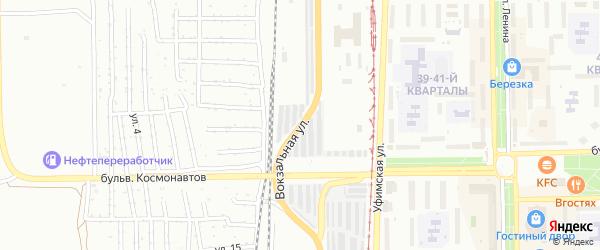 Вокзальная улица на карте Салавата с номерами домов