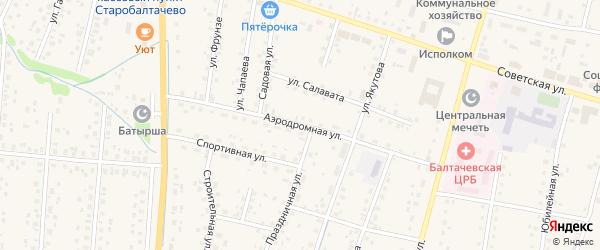 Аэродромная улица на карте села Старобалтачево с номерами домов