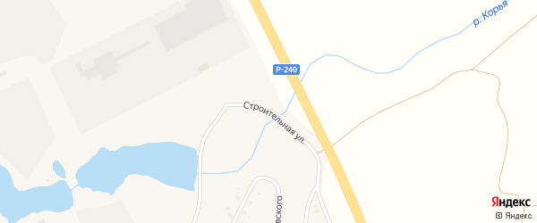 Строительная улица на карте села Толбазы с номерами домов
