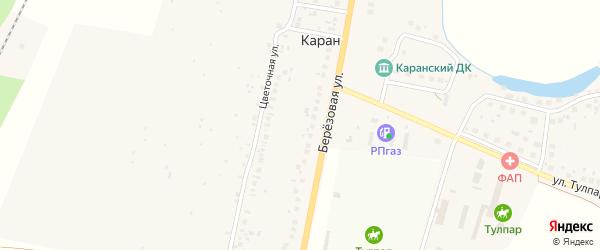 Березовый переулок на карте деревни Карана с номерами домов