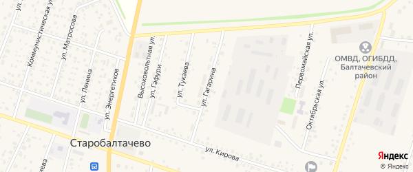 Улица Гагарина на карте села Старобалтачево с номерами домов