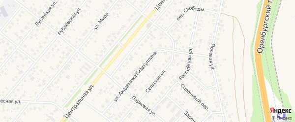 Улица Академика Гизатуллина на карте села Зубово с номерами домов