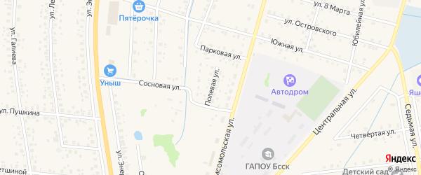 Полевая улица на карте села Старобалтачево с номерами домов