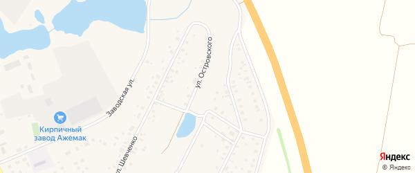 Улица Островского на карте села Толбазы с номерами домов