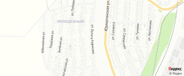 Улица Рафикова на карте Мелеуза с номерами домов
