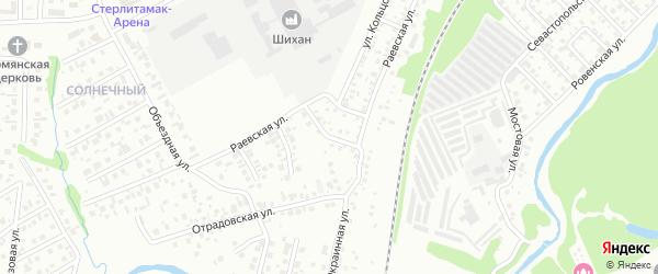 Раевский 2-й переулок на карте Стерлитамака с номерами домов