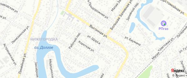Улица Щорса на карте Уфы с номерами домов