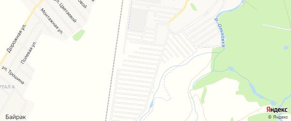 СНТ Незабудка на карте Стерлитамакского района с номерами домов