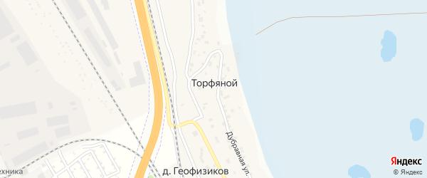 Горная улица на карте деревни Торфяного с номерами домов