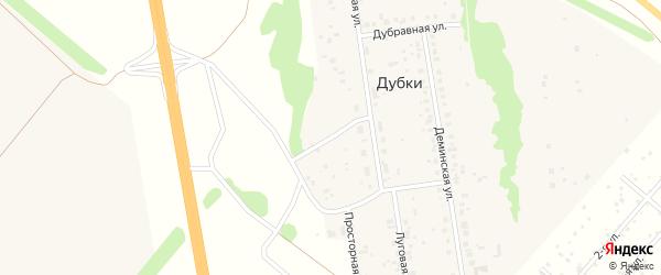 Кооперативная улица на карте деревни Дубки с номерами домов