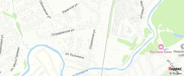 Окраинная улица на карте Стерлитамака с номерами домов