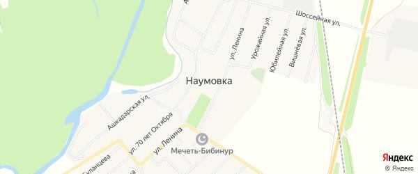Карта села Наумовки в Башкортостане с улицами и номерами домов