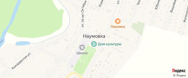 Южный 2-й переулок на карте села Наумовки с номерами домов