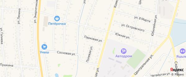 Парковая улица на карте села Старобалтачево с номерами домов