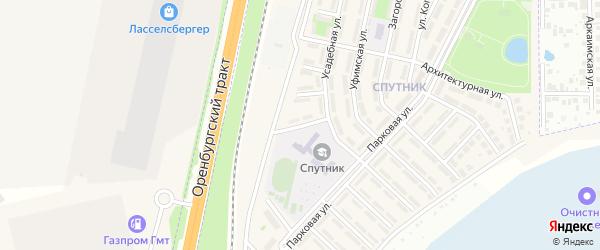 Тенистая улица на карте села Чесноковки с номерами домов