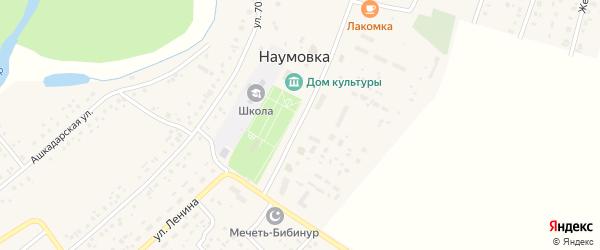 Улица Ленина на карте села Наумовки с номерами домов