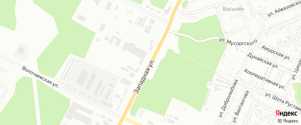 Западная улица на карте Стерлитамака с номерами домов