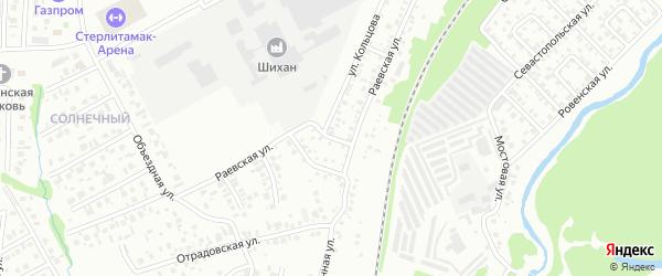 Раевский 1-й переулок на карте Стерлитамака с номерами домов