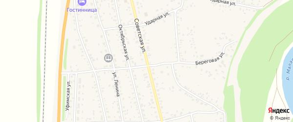 Советская улица на карте села Зиргана с номерами домов
