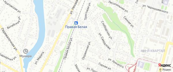 Улица Декабристов на карте Уфы с номерами домов